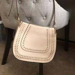 White medium crossover body purse